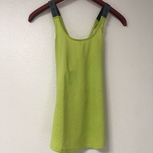 Lime green yoga top